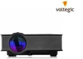 Voltegic ® Mini LED WIFI Home Theater Multimedia Video PC USB SD AV HDMI Proyector Beamer 1200 lm LED Corded Portable Projector(Black)