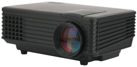 Wonder World ® Mini Multimedia Home Theater Projectors USB HDMI 800 lm LED Corded Portable Projector(Black)