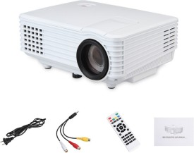 Voltegic ™ RD-805 Multimedia Mini 600x480 Home Cinema Theater HDMI / USB/ AV / VGA/ATV 800 lm LED Corded Portable Projector(White)