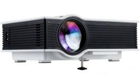 Shrih Mini 800 lm LED Corded & Cordless Portable Projector(White)
