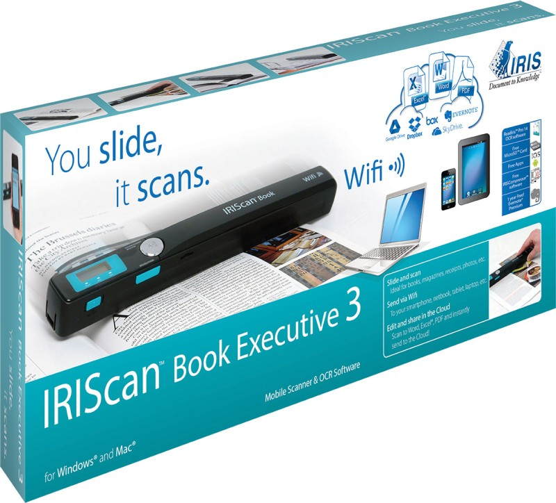 Iris Scan Book Executive 3 WIFI Cordless Portable Scanner