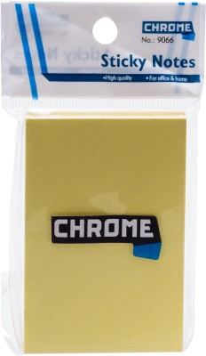 Chrome Removable Self Adhesive Notes 100 Sheets Regular, 1 Colors(Set Of 12, Yellow)