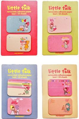 Fusen collection Little Talk 40 Sheets Regular, 4 Colors
