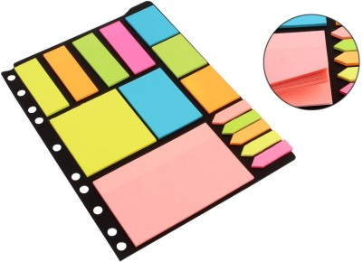 Pigloo Sticky Notes & Page Markers, 250 Assorted Size Notes, 125 Page Markers, Assorted Colors, 25 Sheets Per Pad, Binder Pack, 6 Colors