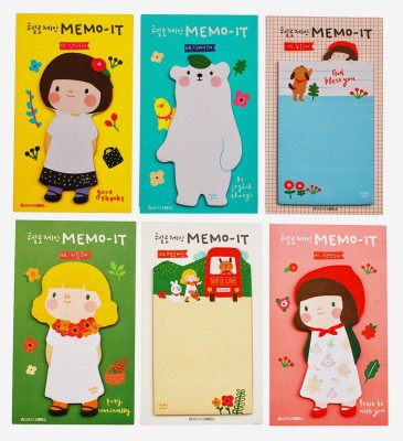 Fusen collection Doll 30 Sheets Regular, 6 Colors