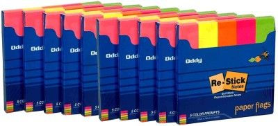 Oddy Re-Stick Paper Notes 250 Sheets Post-it Notes, 5 Colors