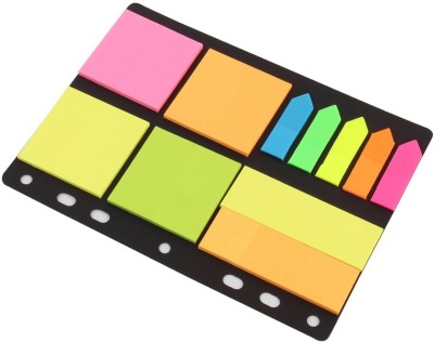 Pigloo Sticky Notes & Page Markers ,150 Size Notes, 125 Page Markers, Assorted Colors, 25 Sheets Per Pad Binder Pack, 5 Colors