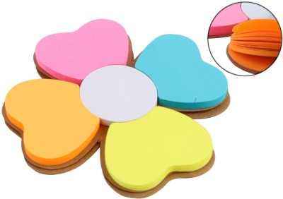 Pigloo 5 Pad Flower Sticky Notes- 40 Sheets Per Pad Floral Design, 5 Colors