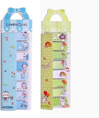 Fusen Collection Lovely days 120 Sheets Flags, 2 Colors(Blue, Green)