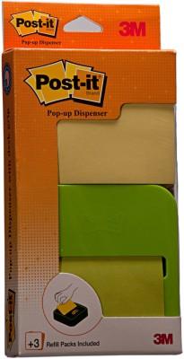 Post-it Pop up Notes 100 Sheets Deskgrip Dispenser, 1 Colors(Set Of 1, Yellow)
