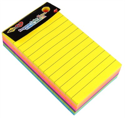 AND Retails Self-Stick Notes 280 Sheets Ruled, 7 Colors