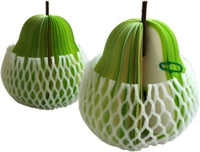 Tootpado Fruit Memo Pads 150 Sheets Regular, 1 Colors(Set Of 2, Green)