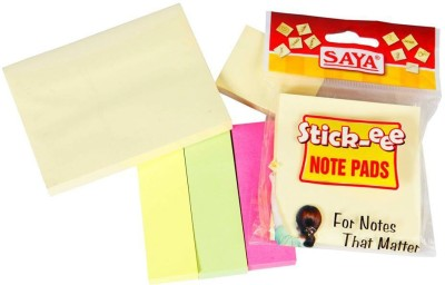 Saya Stick Note Pads 50 Sheets Pop-up, 3 Colors