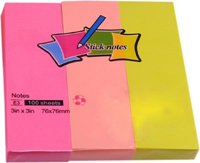 Saamarth Impex Office Self Sticky Notes 20 Sheets Self Sticky Notes, 3 Colors