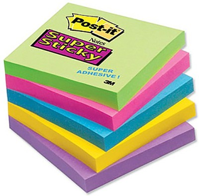 Scotch Sticky 100 Sheets Regular, 5 Colors