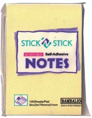 Bambalio Adhesive 100 Sheets Post-its Sticky Note, 1 Colors