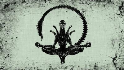 Movie Alien Xenomorph Meditation HD Wall Poster Paper Print