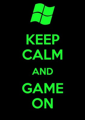 Athah Poster Keep Calm And Game On!! NON TEARABLE Paper Print Rolled In Cardboard Tube Paper Print
