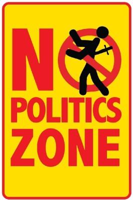 Seven Rays No Politics Zone Paper Print