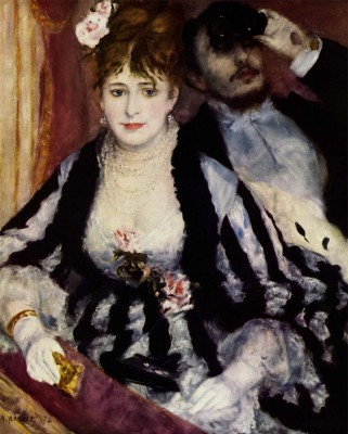 Old Masters Collection - The Theatre Box By Pierre-Auguste Renoir - Ready To Frame Rolled Digital Art Print On Photographic Paper