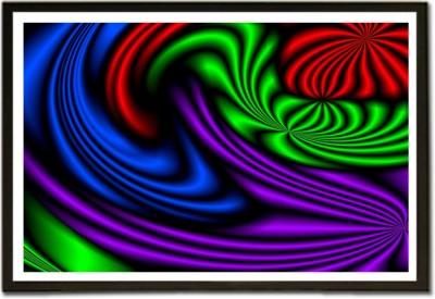 Framed Dj Lights on Curved Surface Pattern Paper Print
