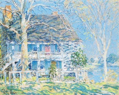 The Old Brush House, Cos Cob, 1902 (Medium) Paper Print