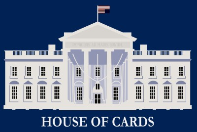 House of Cards - White House Minimalist Paper Print