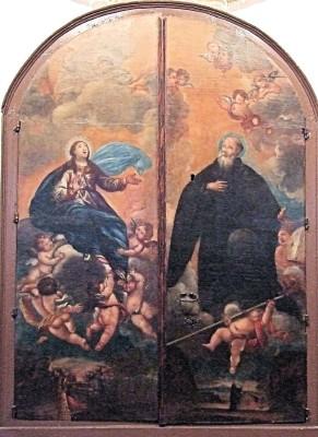 Ascensión de la Virgen & San Iñigo by Goya Paper Print