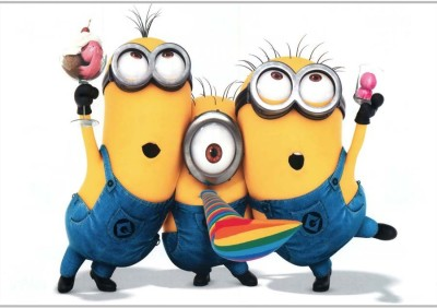 3 MinionsPoster (18 x 12 Inches) by Shopkeeda Paper Print