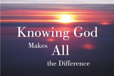 knowing god makes all the difference Paper Print