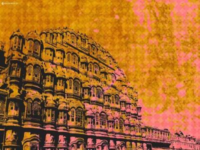 Colours of Jaipur (Jaipur 1) Paper Print