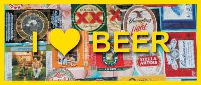 I Love Beer Paper Print(12 inch X 28 inch, Rolled)