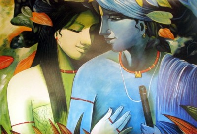 Athah Religious Poster sk Radha Krishna Paper Print