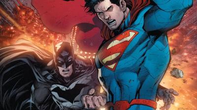 Batman/Superman Superman Batman Frameless Fine Quality Poster Paper Print