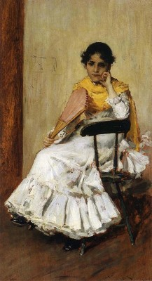 A Spanish Girl (aka Portrait of Mrs. Chase in Spanish Dress), 1886 (Medium) Paper Print