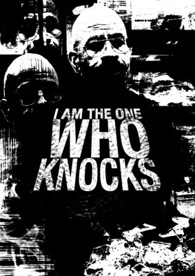 Athah Poster Heisenberg - I Am The One Who Knocks Black NON TEARABLE Paper Print Rolled In Cardboard Tube Paper Print