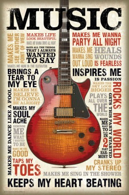 bCreative Music Inspires Me (Officially Licensed) Paper Print(27 inch X 18 inch)