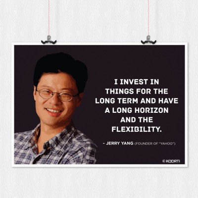 KAARTI I Invest In things For The Long Term - Jerry Yang (Medium) Sun Board Framed Paper Print