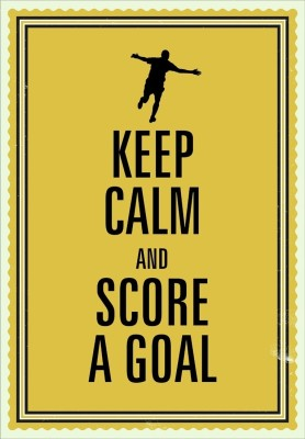 Seven Rays Keep calm and score a goal Paper Print (Small) Paper Print
