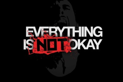 Posterhouzz Everything Is Not Okay Poster Fine Art Print