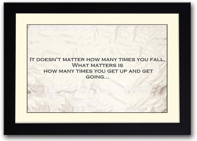 How Many Times You Get Up Quote Fine Art Print