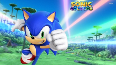 Running Sonic - Sonic Colors Athah Fine Quality Poster Paper Print