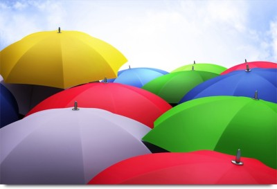 Colorful Umbrellas Paper Print