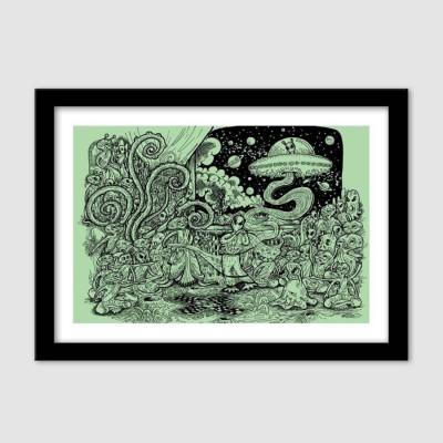 Athah Poster The Alien Mahabharata Paper Print