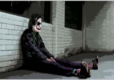 Sad Joker Poster (18 x 12 Inches) by Shopkeeda Paper Print