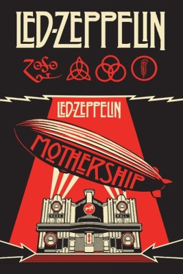 Athah Fine Quality Poster sk Led Zeppelin ,Mothership, Paper Print