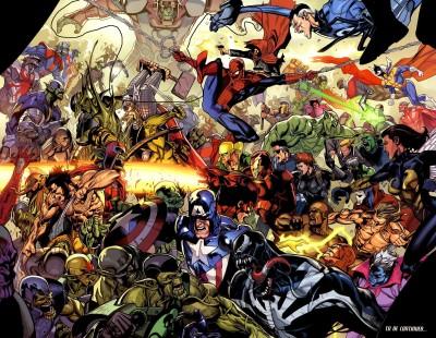 Marvel Spider-Man Captain America Wolverine Iron Man Venom Mr. Fantastic Frameless Fine Quality Poster Paper Print