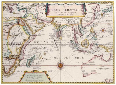 The Museum Outlet - Art Postcard - South East Asia, Pierre Duval 1680 Paper Print(7 inch X 5 inch, Flat)
