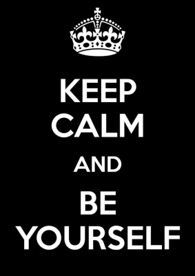 Athah Poster Keep Calm And Be Yourself : NON TEARABLE Paper Print Rolled In Cardboard Tube Paper Print