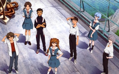Characters in Neon Genesis Evangelion Athah Fine Quality Poster Paper Print